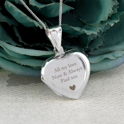 Sterling Silver Heart Message Locket